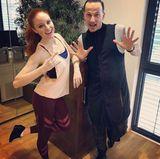 Barbara Meier und ihr Tanzpartner Sergiu Luca haben den zweiten Trainingstag bereits hinter sich.