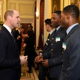 ImMarlborough House begrüßt Prinz William Gäste beim jährlichen Empfanganlässlich des Commonwealth Days.