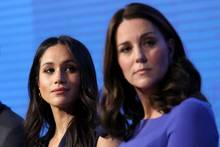 "Meghan Markle, Herzogin Catherine und Prinz harry beim Forum der ""royal Foundation"" 2018"