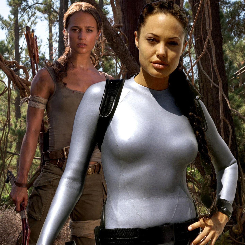 Angelina Jolie und Alicia Vikander als Lara Croft