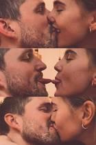 """Dieses Paar versteht sich auch ohne all zu viele Worte. Mit einem simplen """"du"""" kommentiert Stefanie Giesinger ihre verspielte Knutsch-Collage. Gemeint damit ist natürlich ihr Freund Marcus Butler."""