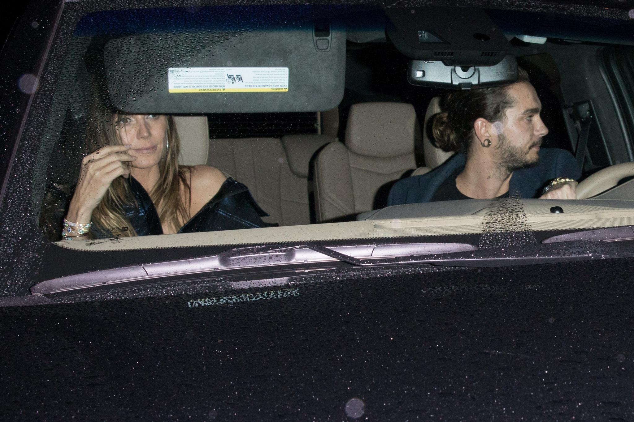 Heidi Klum und Tom Kaulitz fahren Auto