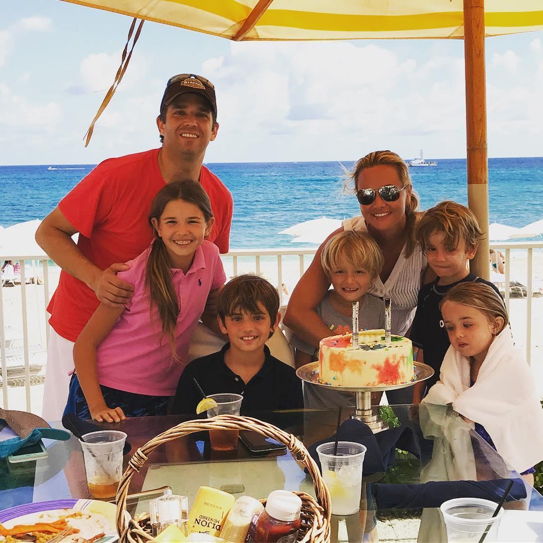 Donald Trump Jr. mit Vanessa und den Kindern im Februar 2018 in Florida