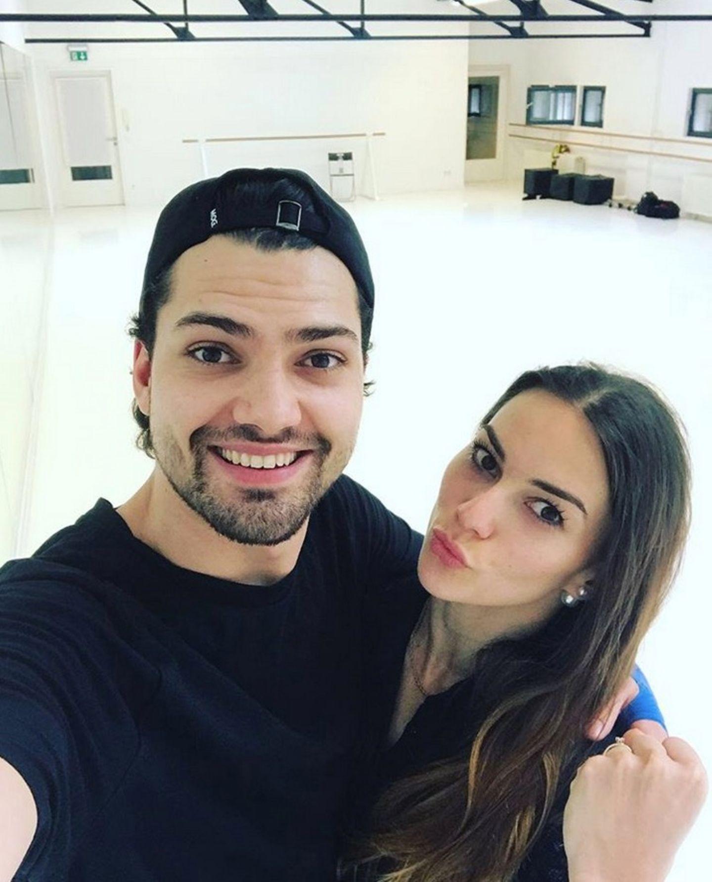 Ob es wohl eine tänzerische Steigerung zur letzten Show geben wird? Jimi Blue Ochsenknecht und Tanzpartnerin Renata Lusin sind kräftig am Trainieren.