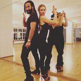 James Bond? Nein Let's Dance ist angesagt. Massimo Sinato und Tanzpartnerin Julia Dietze machen sich für die nächste Show bereit.