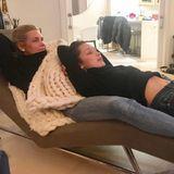 Kostbare Mutter-Tochter Zeit verbringen Yolanda Hadid und Model-Tochter Bella.