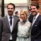 Royaler Besuch aus Griechenland:Prinz Philippos, Prinzessin Maria-Olympia und Kronprinz Pavlos