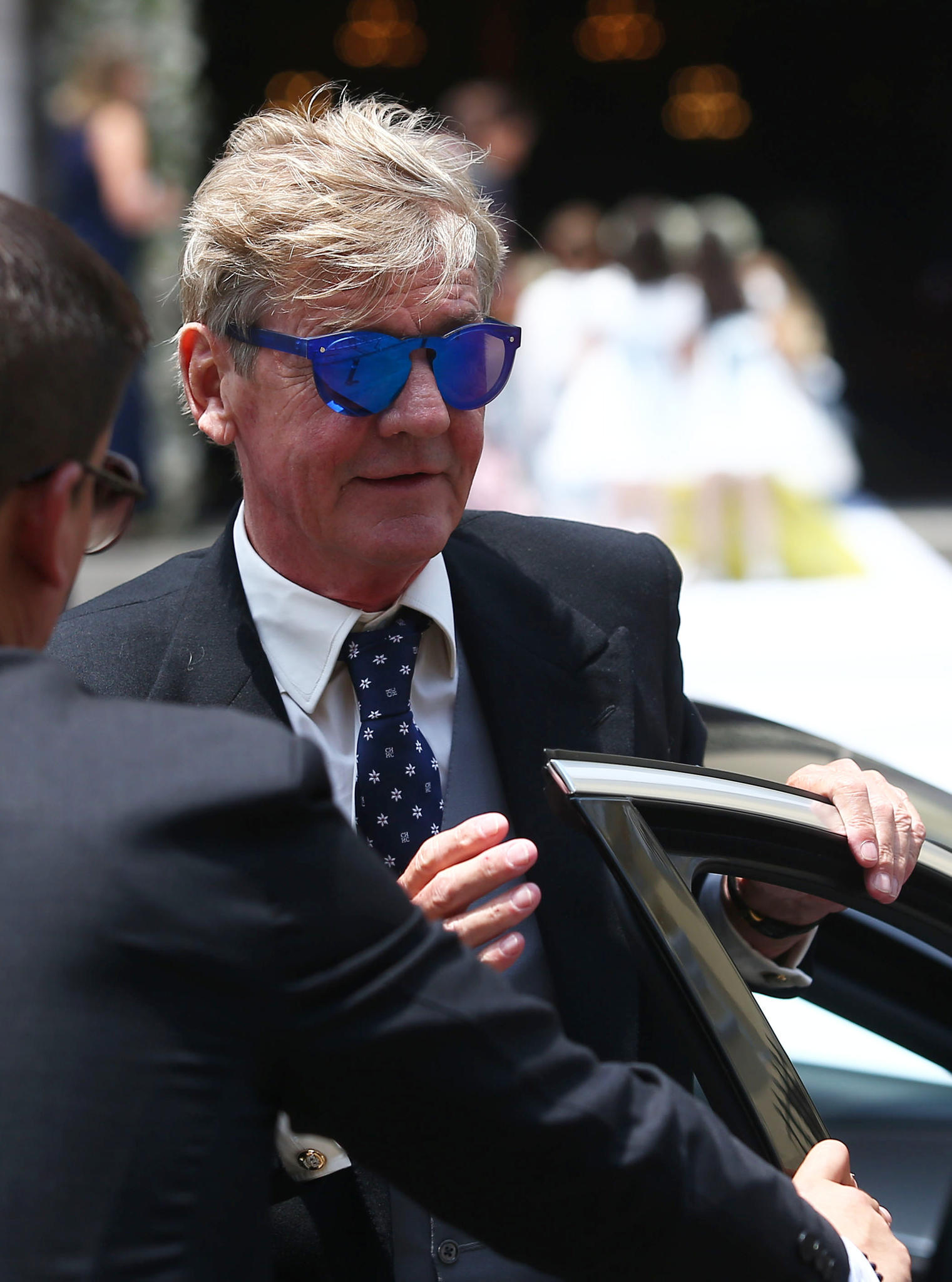 Prinz Ernst August, der Vater des Bräutigams, in Lima