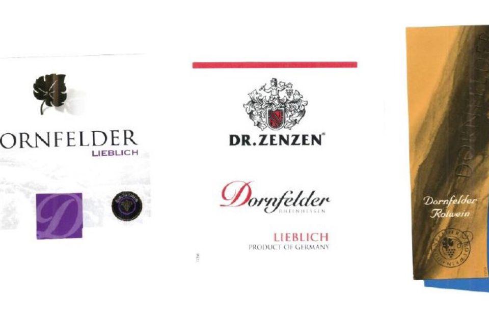 Dornfelder Rotwein Etiketten