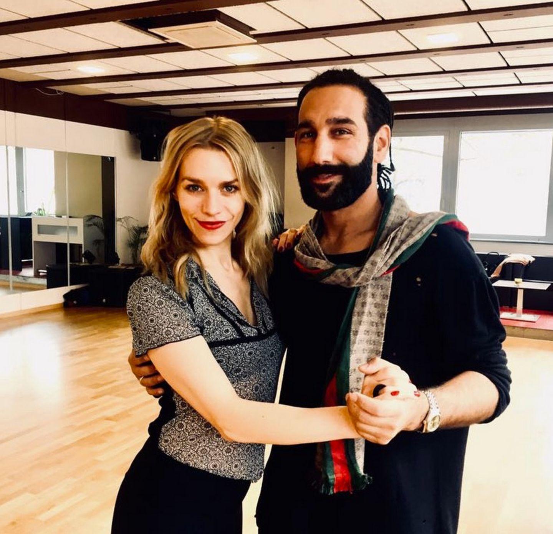 Auch Julia Dietze und Tanzpartner Massimo Sinato sind schon fleißig am Trainieren für die nächste Show.