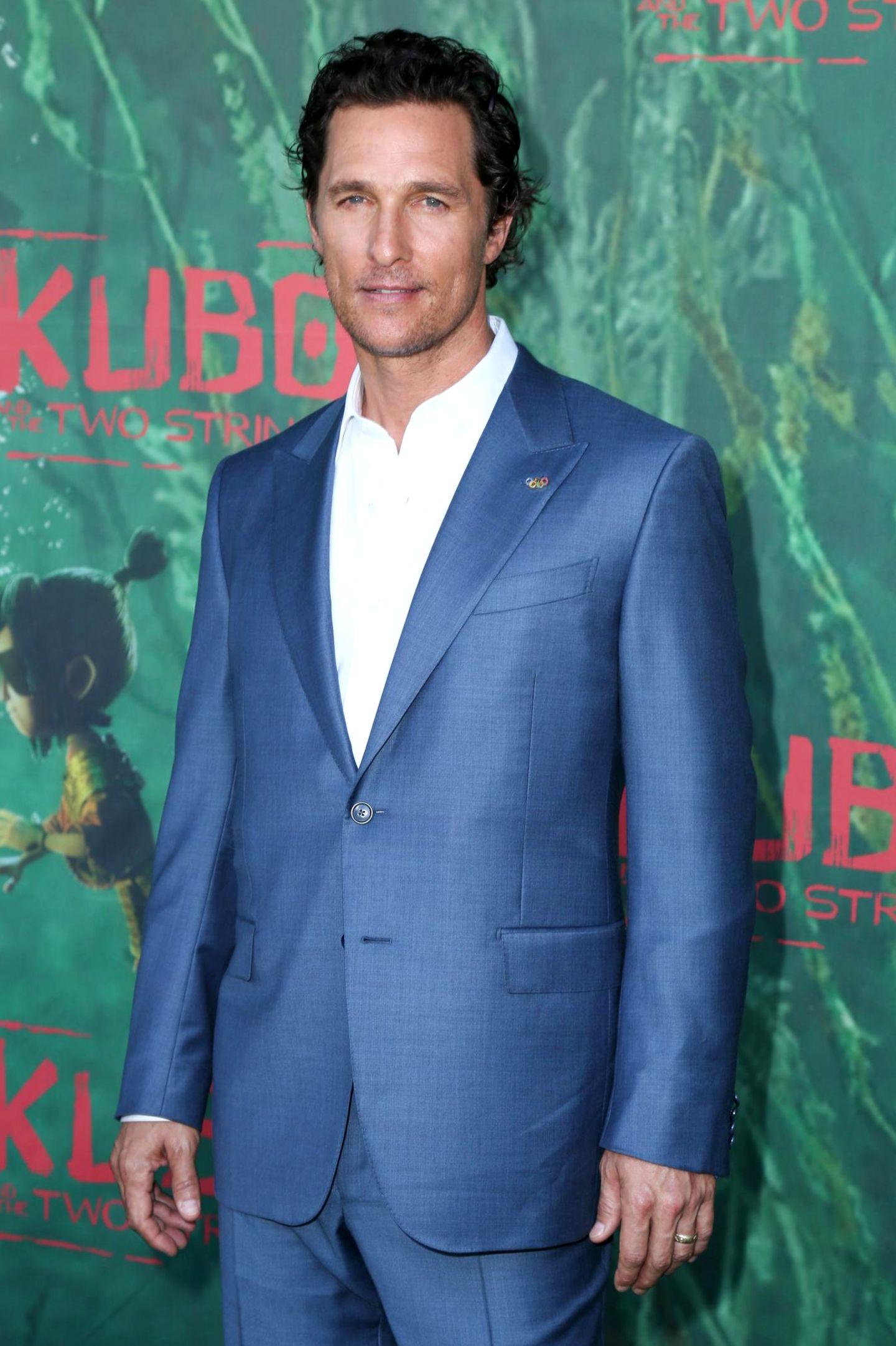 """Matthew McConaughey: 15 Jahre alt  Weitere Details über sein erstes Mal gibt der Schauspieler nicht preis, sagte er in einem """"Playboy""""-Interview."""