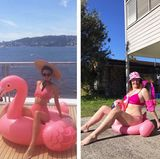 Urlaubsgrüße: Kendall Jenner vs. Celeste Barber.