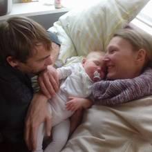 Marco und Sarah mit Tochter Yuna
