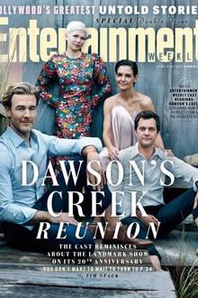 """Zwanzig Jahre """"Dawson's Creek"""" will gefeiert werden! Hollywoods Magazin """"Entertainment Weekly"""" zeigt unsere verdammt gut gealterten Lieblinge James Van Der Beek, Michelle Williams, Katie Holmes und Joshua Jackson."""