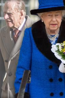 Die Queen musste am 29. März bei einem Termin auf ihren Ehemann Prinz Philip verzichten