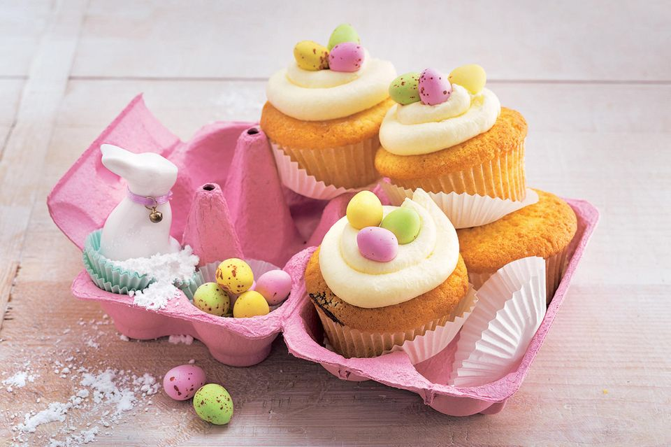 Osternest-Cupcakes