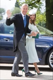 David Matthews und Ehefrau Jane bei der Hochzeit ihres Sohnes James mit Pippa Middleton am 20. Mai 2017