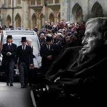 Stephen Hawking (†74) wird das letzte Geleit gegeben.