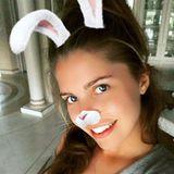 Victoria Swarovski wünscht ihren Fans mit lustigem Instagram-Filter schöne Ostertage.