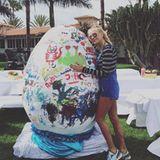 Auch Jenny Elvers möchte es sich nicht nehmen lassen, ihren Instagram-Fans fröhliche Ostern zu wünschen.