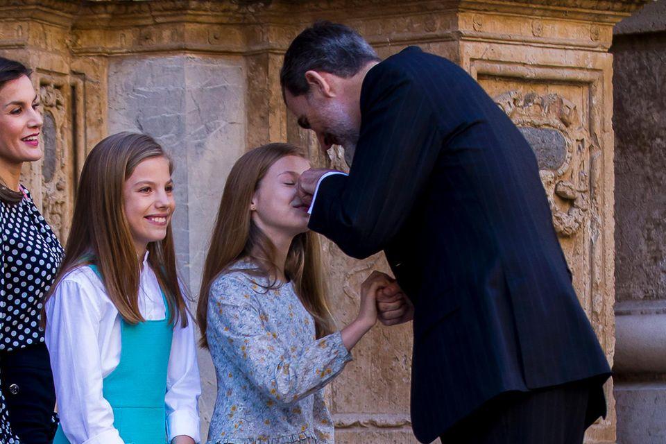 Bekommt Prinzessin Leonor hier Ärger von Papa König Felipe?