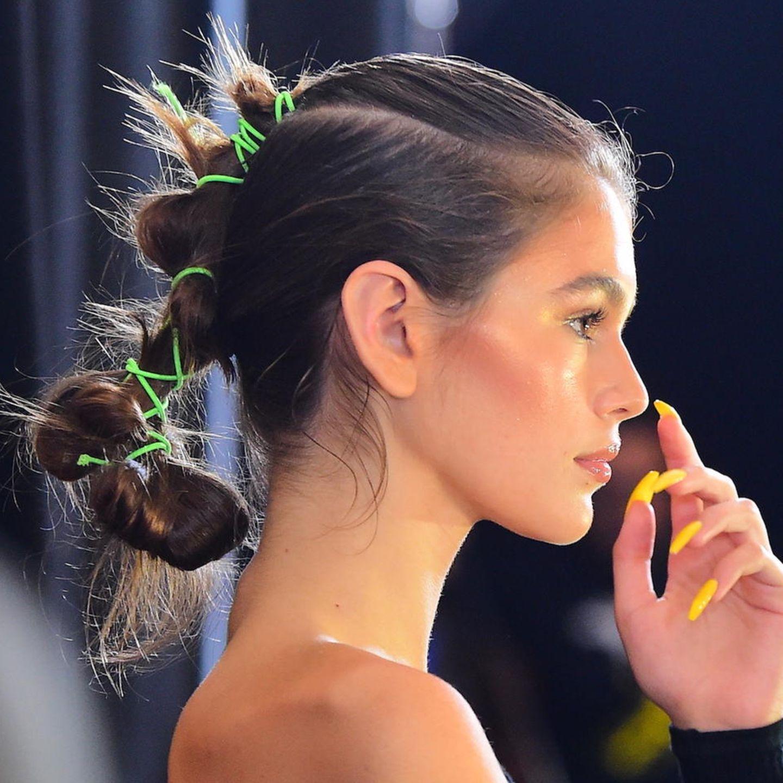 "Model Kaia Gerber bei der Show von ""Fenty x Puma by Rihanna""."
