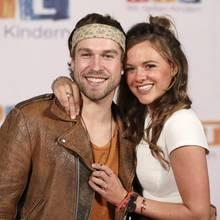 Jeremy Grube und Yvonne Pferrer beim 22. RTL-Spendenmarathon