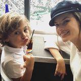 11. März 2018  Alessandra Ambrosio schaut sich am Wochenende gemeinsam mit Söhnchen Noah Phoenix ein Tennisspiel an.