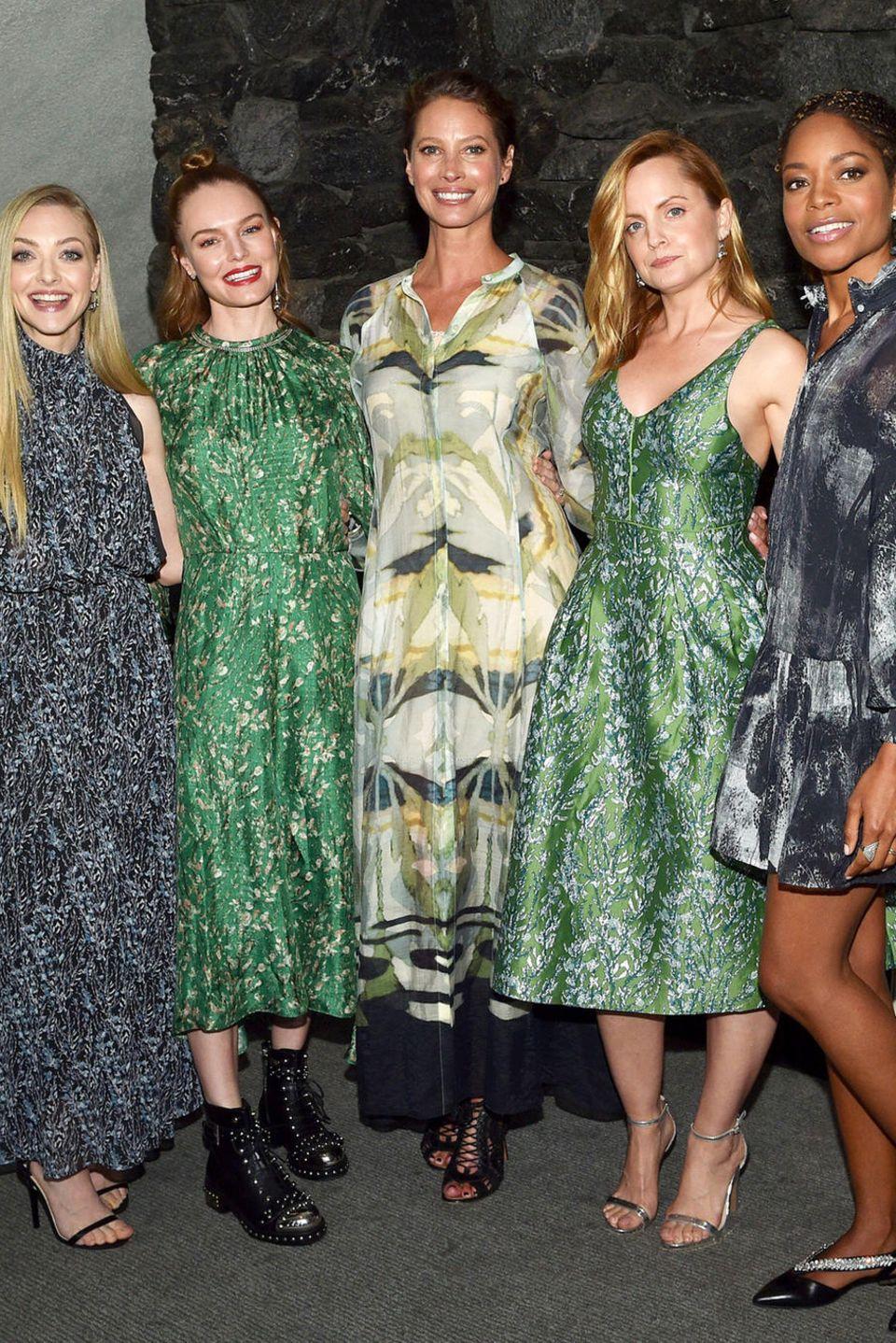 5. April 2018  Schönheit mal 5:Amanda Seyfried, Kate Bosworth, Christy Turlington, Mena Suvari und Naomie Harris (v.l.) feiern in Los Angeles gemeinsam den Launch der neuen Conscious Exklusive Collection von H&M.
