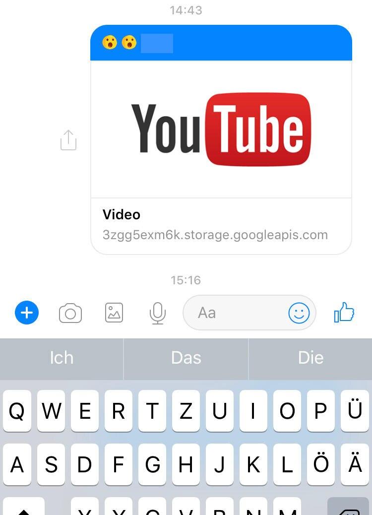 Nachricht im Facebook Messenger