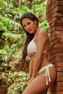 """Pamela Gil Marta, 28, """"Der Bachelor""""  Pam ist in Santo Domingo geboren, in ihr stecken also 100% Dominikanische Republik und damit Feuer und Fröhlichkeit im Blut. Leider hat es für sie vor drei Jahren in der Staffel mit Oliver Sanne nur bis zur zweiten Folge gereicht. Im Paradies möchte Pam jetzt selbstsicherer auftreten und mit geballter Charme-Offensive ihr Single-Dasein nach vier Jahren endlich beenden. Ob Zoff mit Oliver vorprogrammiert ist? Auf ihn könne sie bei dem TV-Projekt verzichten, sagt sie."""