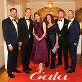 Bereit für die Beauty-Oscars: Johannes Scheer (Shiseido Group Germany), Stephan Schäfer (G+J), Carla Kromberg (Estée Lauder Companies GmbH) mit Doris Fuldauer, Marc Liesenfeld und Marcus Luft (GALA).