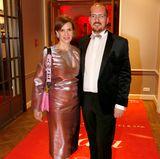 Maik Homeyer (MSC Kreuzfahrt) und Esther Homeyer kurz vor Verleihungsbeginn.