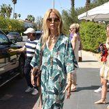 Passendes Outfit für eine Party in Palms Springs: Rachel Zoe zeigt sich beim Coachella-Event von Levi's im floralen Maxikleid.