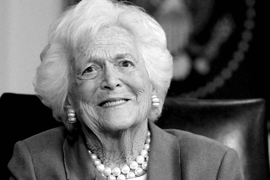 Ehemalige First Lady Barbara Bush.