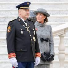 Fürst Albert und Schwester Caroline von Monaco