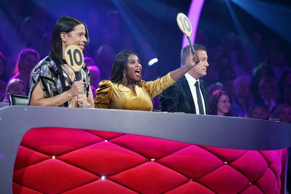 "Die ""Let's Dance""-Jury, bestehend aus Jorge Gonzalez, Motsi Mabuse & Joachim Llambi"