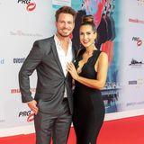 """Glamour in Frankfurt: Für die Live Entertainment Awards haben sich Clea-Lacy und ihr Ex""""Bachelor"""" Sebastian besonders schick gemacht."""