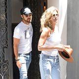 Im Sommer 2017 waren Jennifer Aniston und ihr Mann Justin Theroux noch gerne im lässigen Jeans-Partnerlook unterwegs.