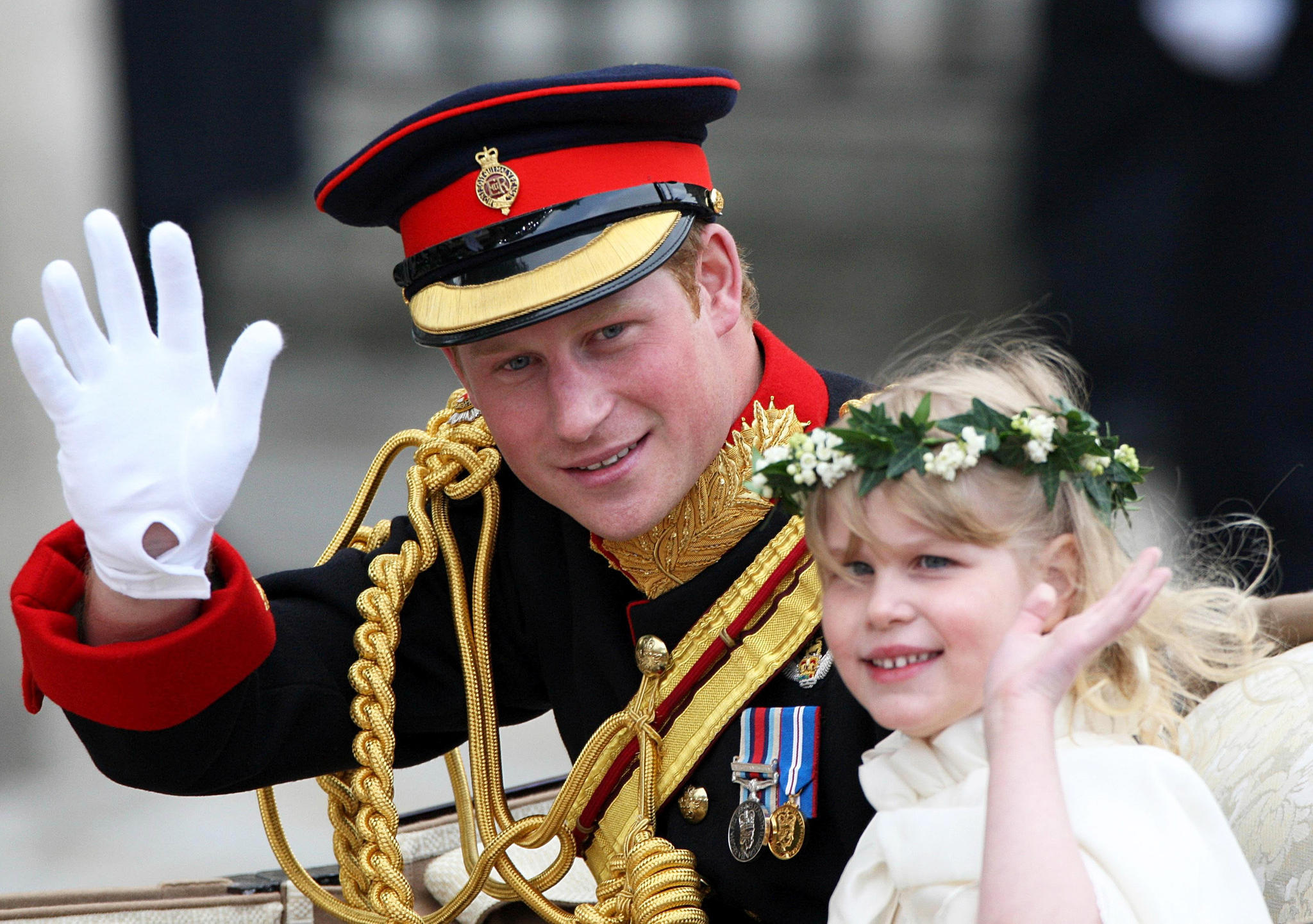 Prinz Harry und Lady Louise Windsor bei der Hochzeit von Herzogin Catherine und Prinz William