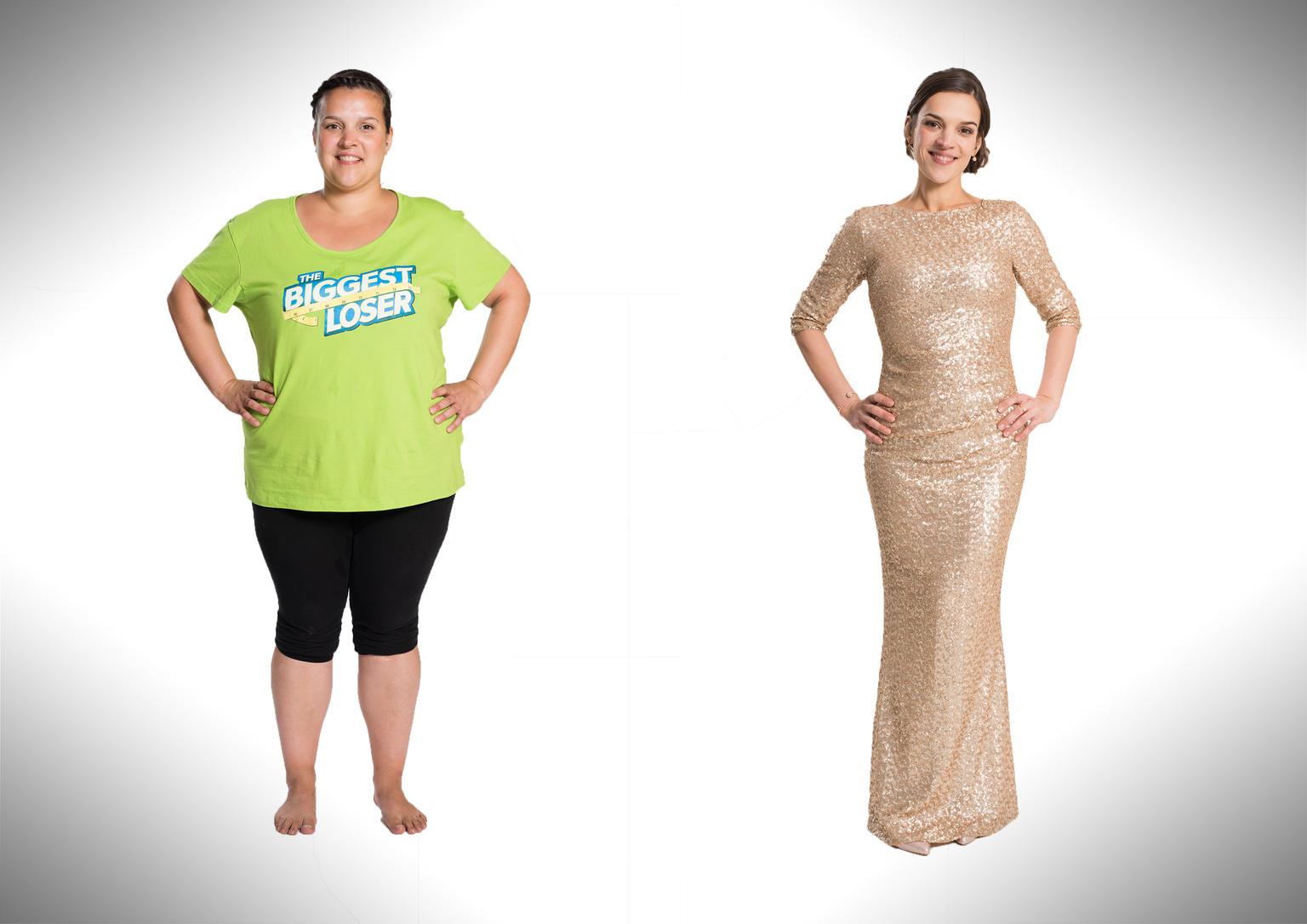 """Bei """"The Biggest Loser 2017"""" stellt Alexandra Gregus einen absoluten Rekord auf: Sie nimmt von 103,4 kg über die Hälfte ab und landet schließlich bei 50,2 kg."""