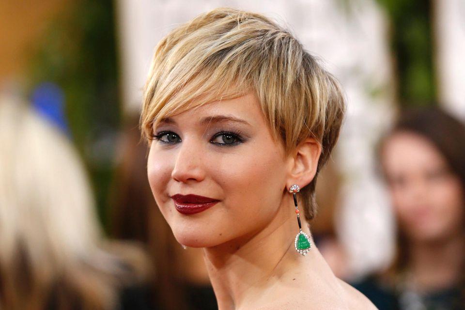 Stufenschnitt und kurze Haare Jennifer Lawrence