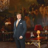 März 2018  Stolz posiert König Willem-Alexander im Mozeszaal des königlichen Palasts in Amsterdam.