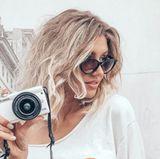 """Vor ihrer Teilnahme an """"Germany's next Topmodel"""" war Gerda bereits blond. Im Rahmen des Umstylings wurde ihre Walle-Mähne braun gefärbt und jetzt hat sich das Model erneut einer kompletten Typverwandlung unterzogen."""