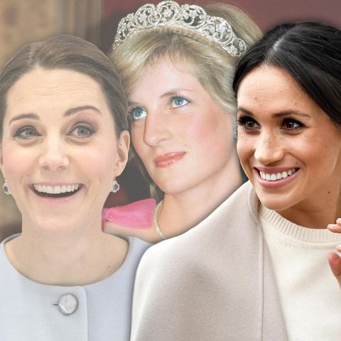 Herzogin Catherine, Lady Diana + Meghan Markle
