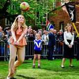 27. April 2018  Voller Einsatz: Prinzessin Catharina-Amalia beim Volleyball.