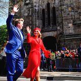 27. April 2018  Das königliche Traumpaar winkt den Niederländern zu.