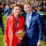 27. April 2018   Prinzessin Aimée und Ehemann Prinz Floris erweisen dem König die Ehre.