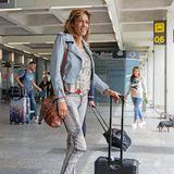 """Zurück auf Mallorca: Nadja Abd el Farrag ist für einen Auftritt in """"Krümels Stadl"""" angereist. Die künstlerischen Differenzen zwischen ihr und Ballermann-Sängerin Krümel scheinen vorerst der Vergangenheit anzugehören."""