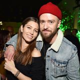"17. Januar 2018  Eng umschlugen zeigen sich Jessica Biel und Justin Timberlake bei der ""Man Of The Woods Listening Session"" in New York City."